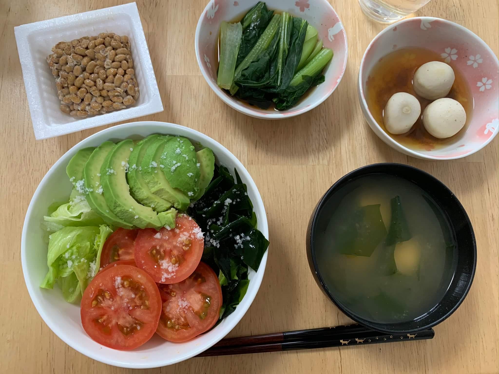 【断食】ファスティング回復食2日目のメニュー サラダは毎食